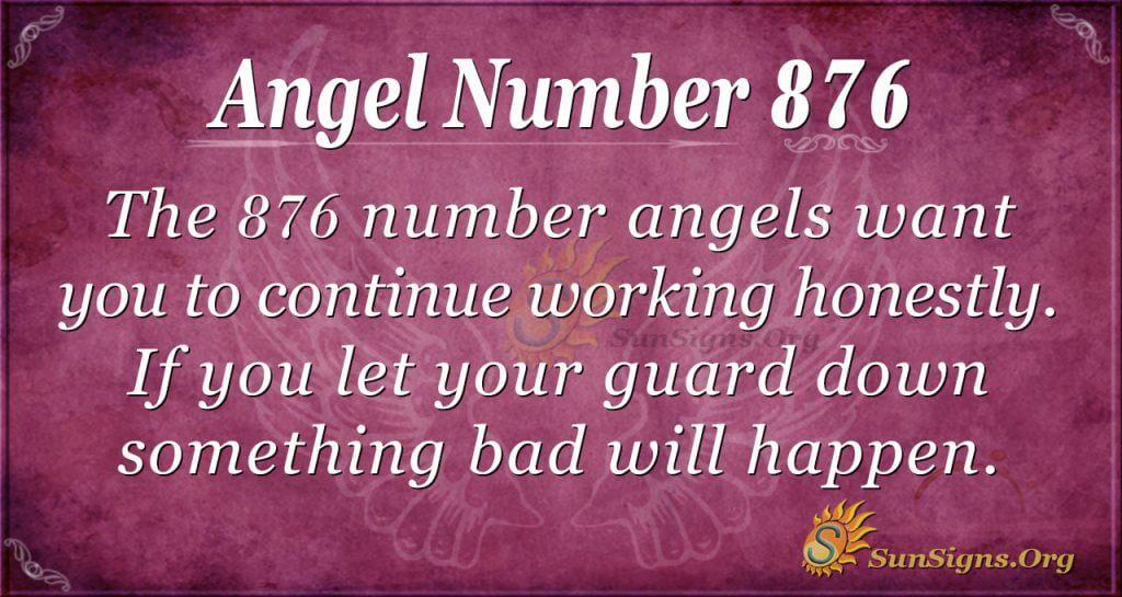 angel number 876
