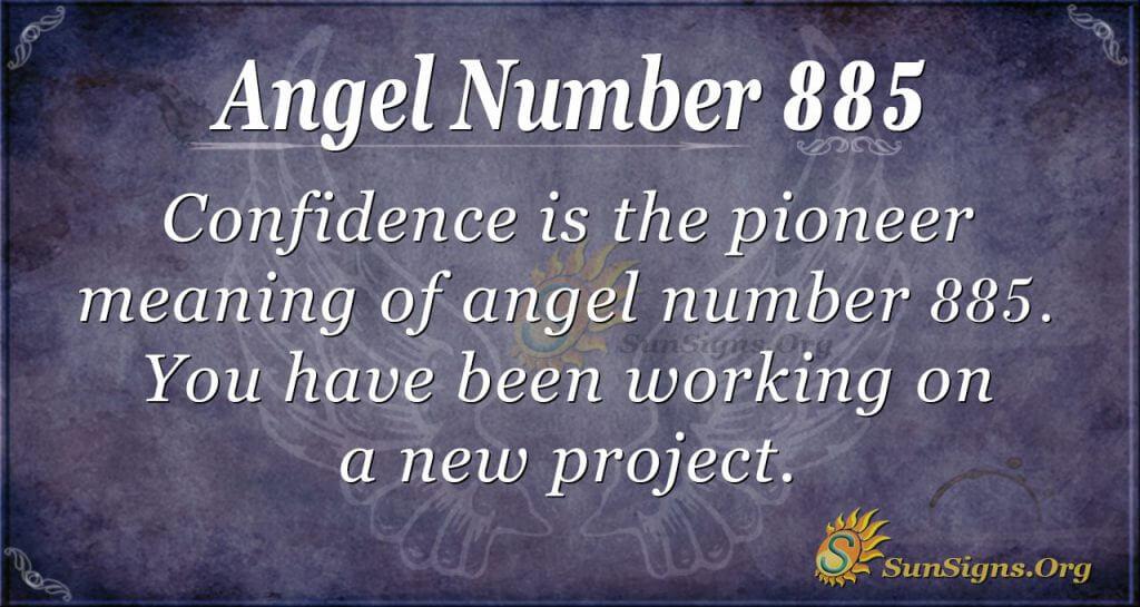 angel number 885