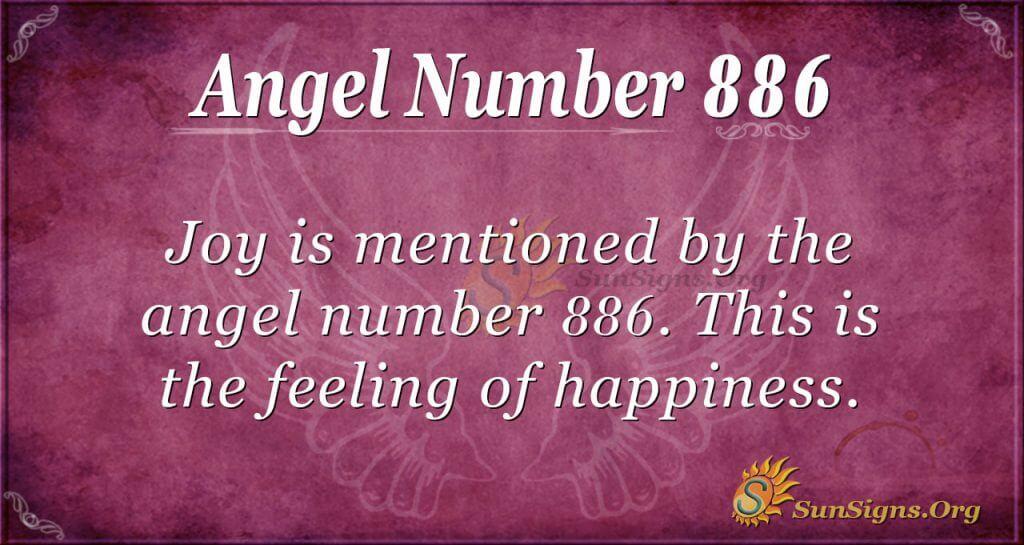 angel number 886