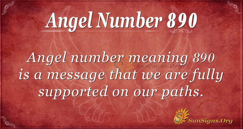 angel number 890