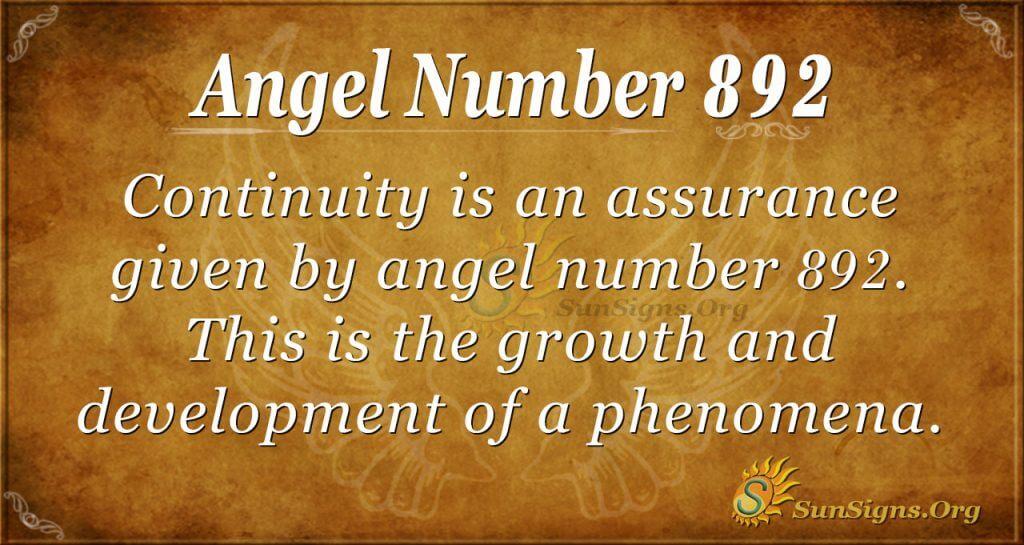angel number 892