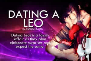 dating a leo