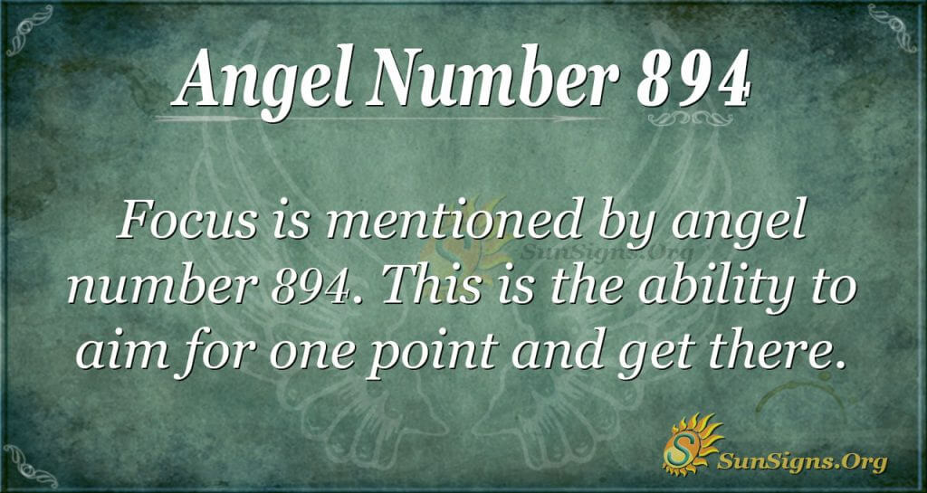 angel number 894