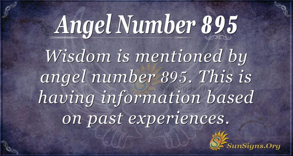 angel number 895