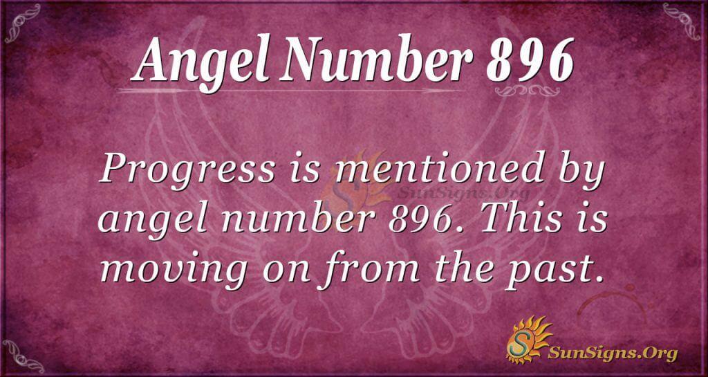 angel number 896