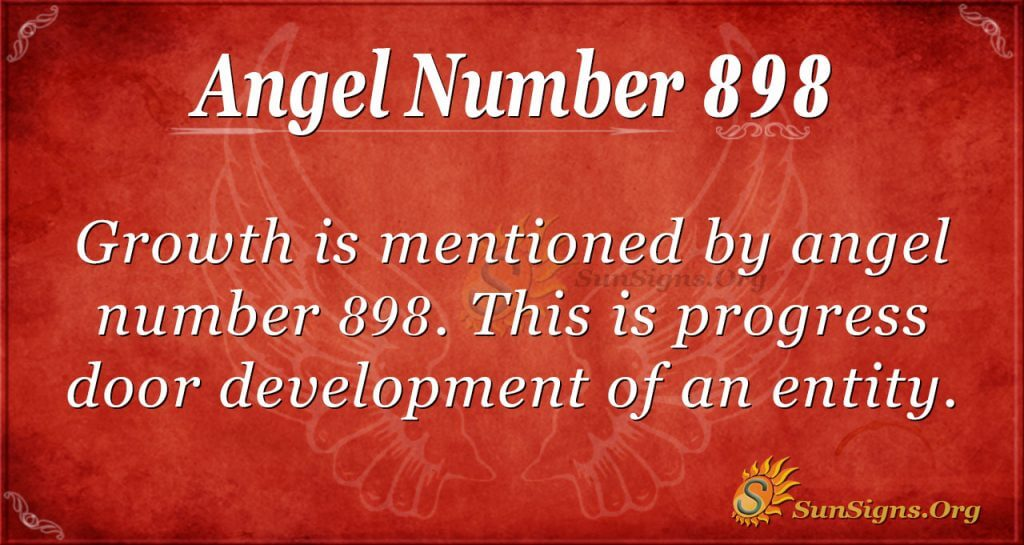 angel number 898