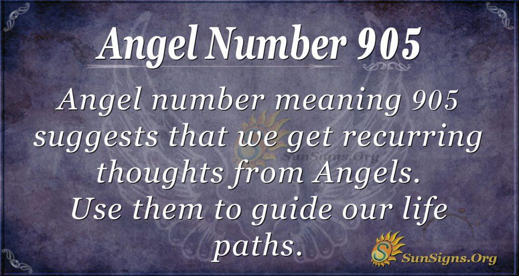 angel number 905