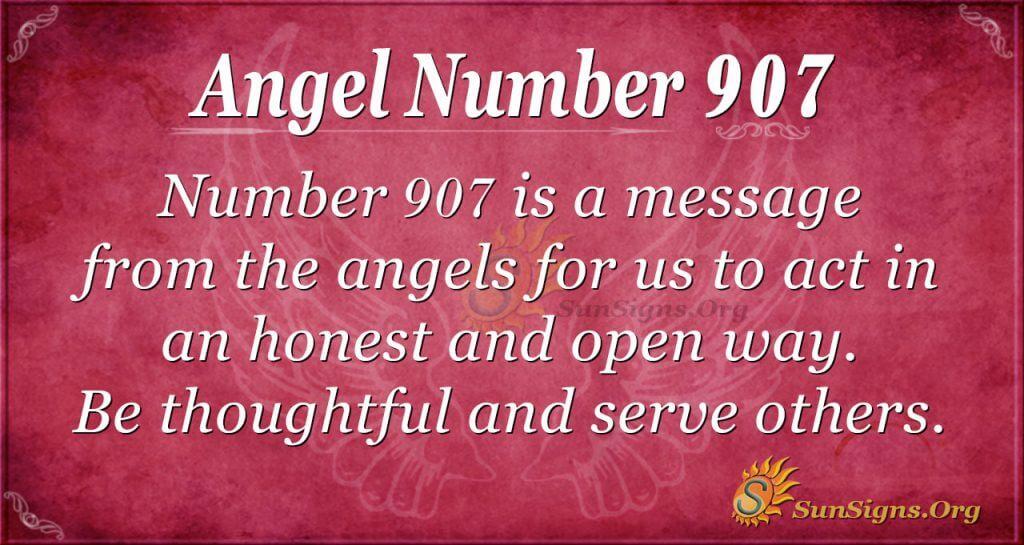 angel number 907