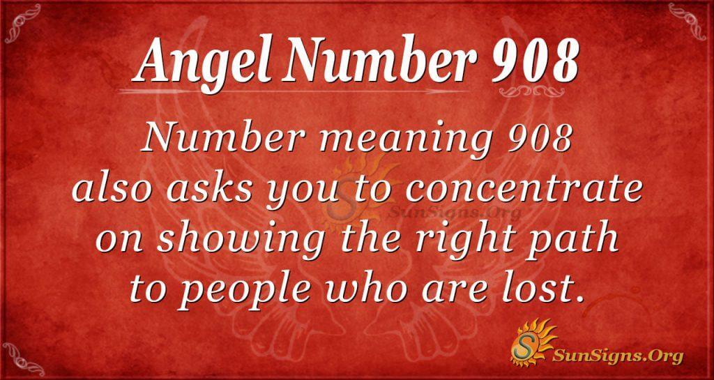 angel number 908