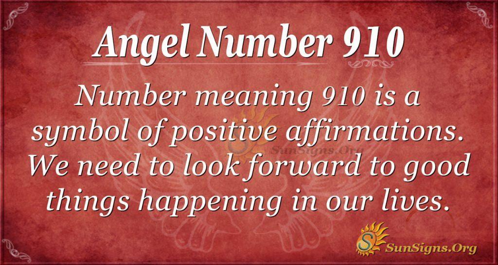 angel number 910
