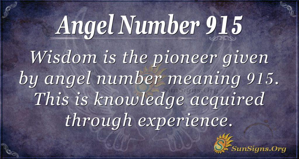 angel number 915