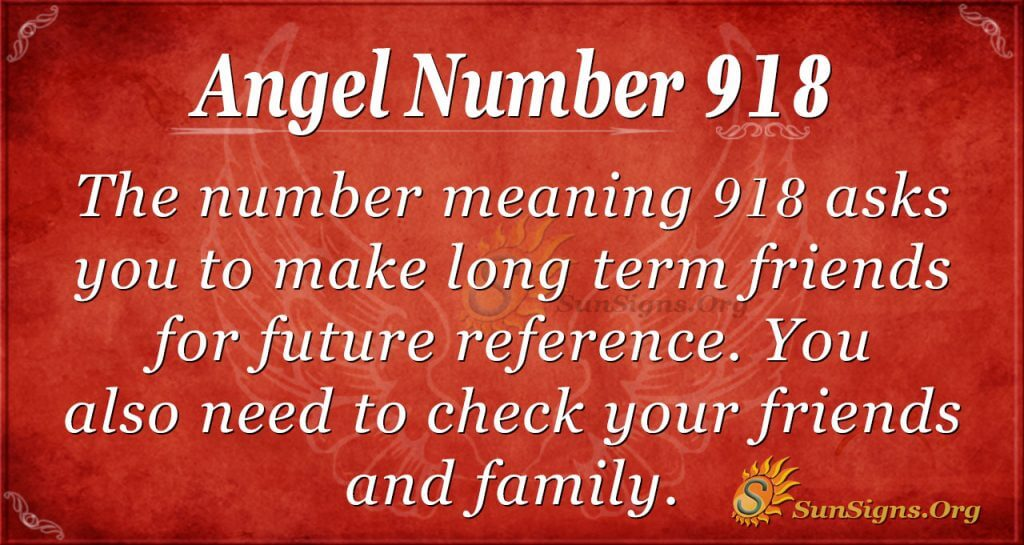 angel number 918