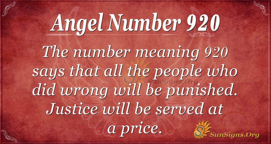 angel number 920
