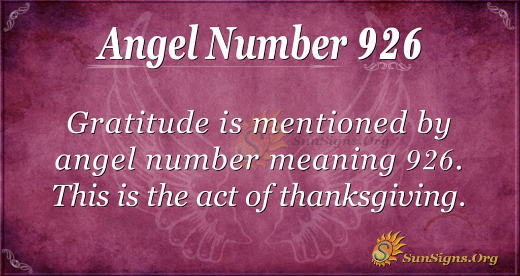 angel number 926