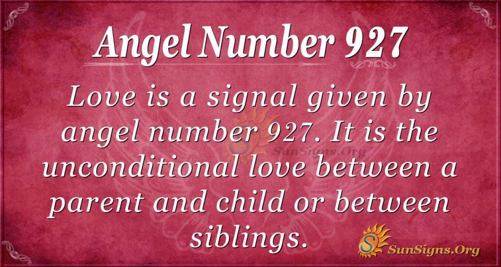 angel number 927