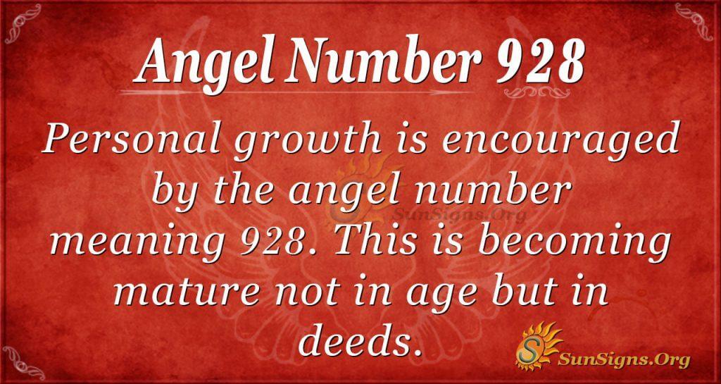 angel number 928