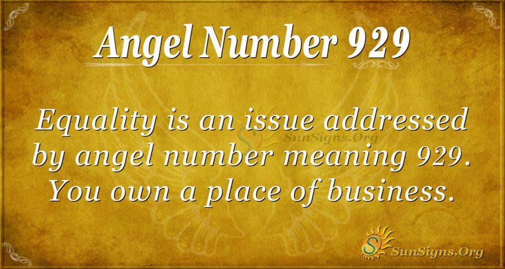 angel number 929