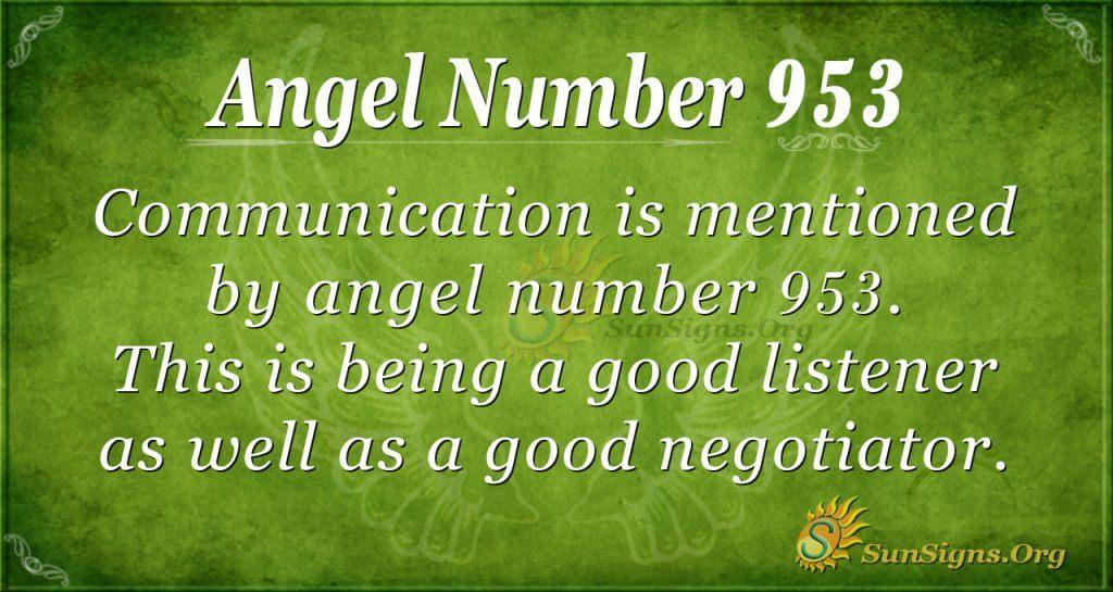angel number 953