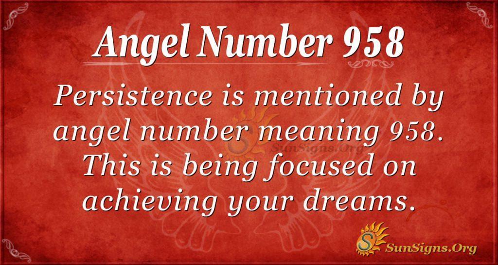 angel number 958