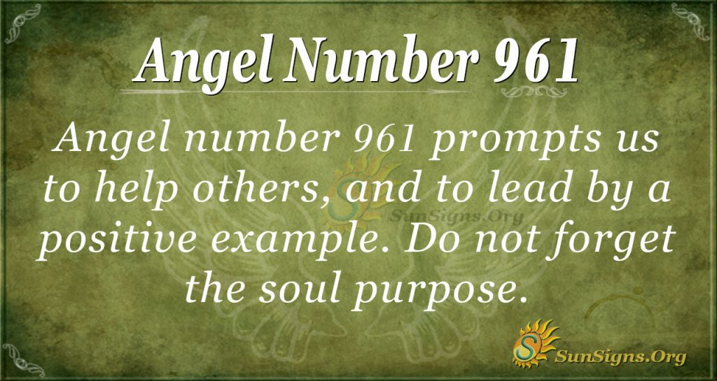 angel number 961