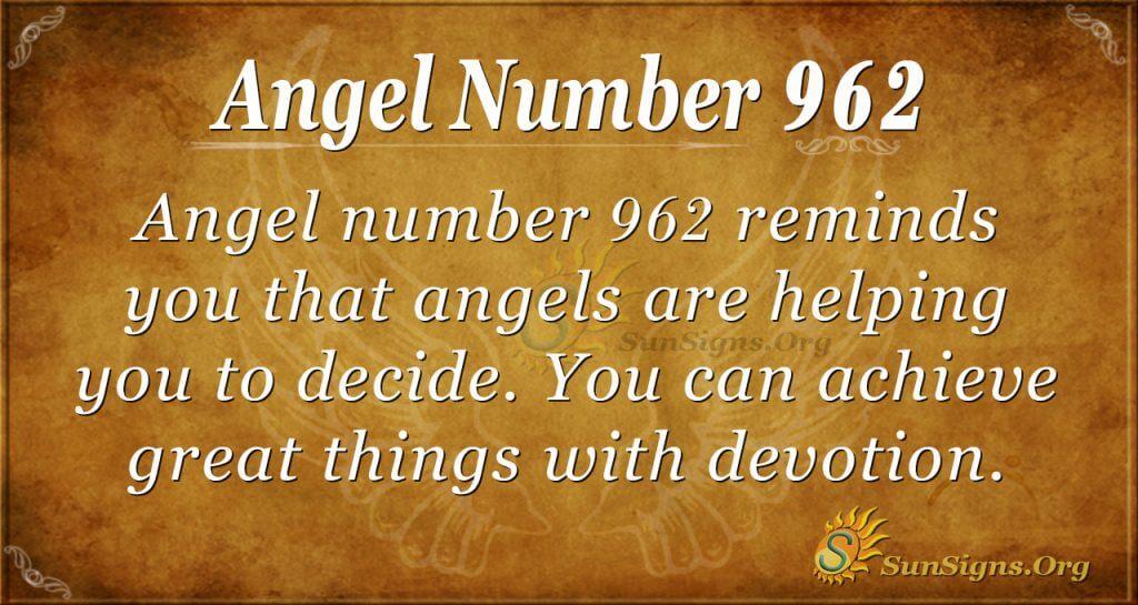 angel number 962