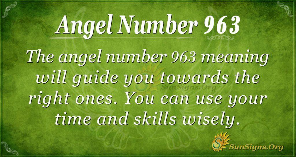 angel number 963