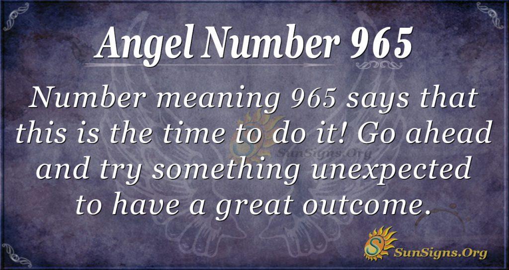 angel number 965