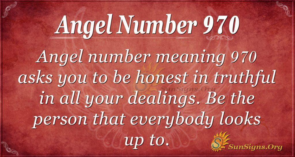 angel number 970