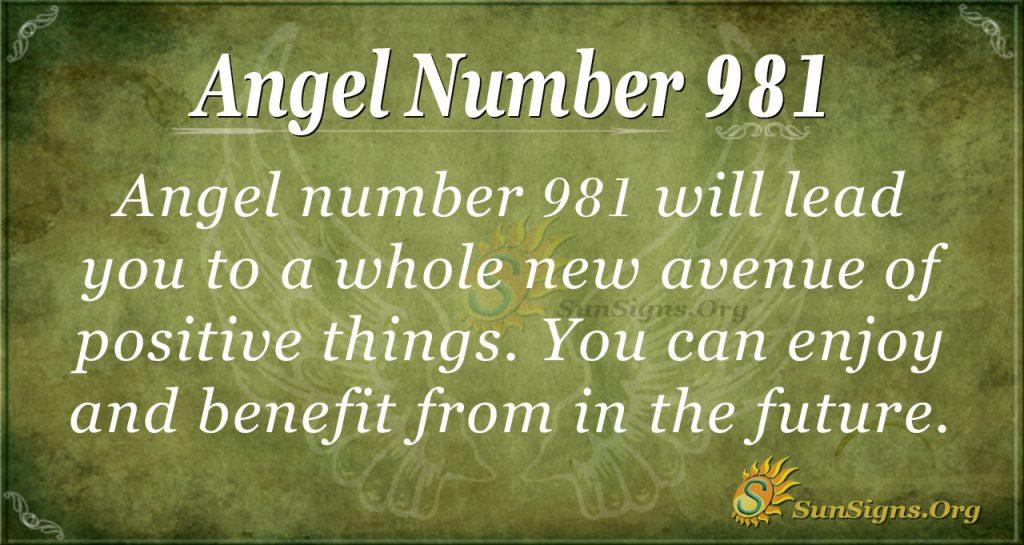 angel number 981
