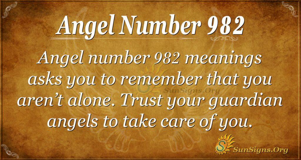 angel number 982