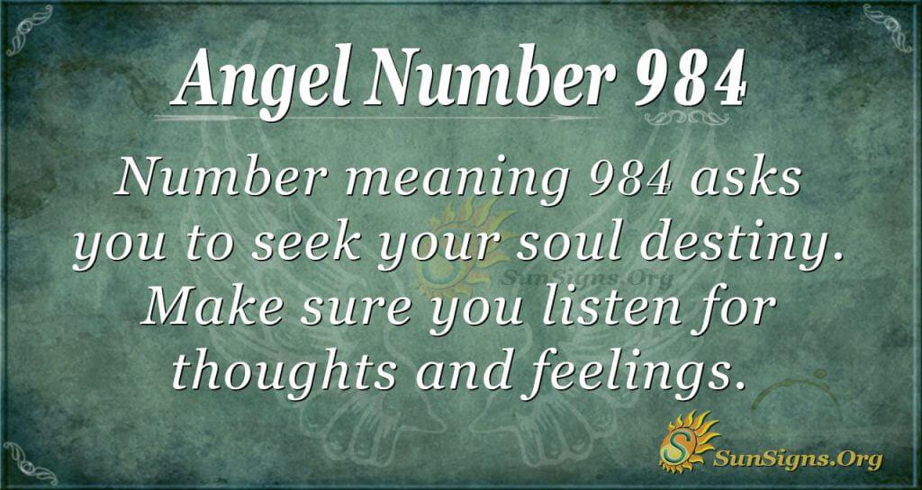 angel number 984