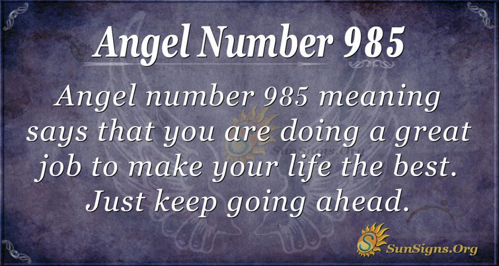 angel number 985