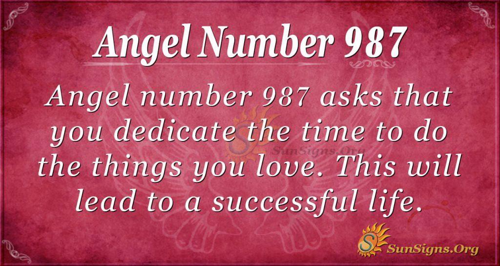 angel number 987