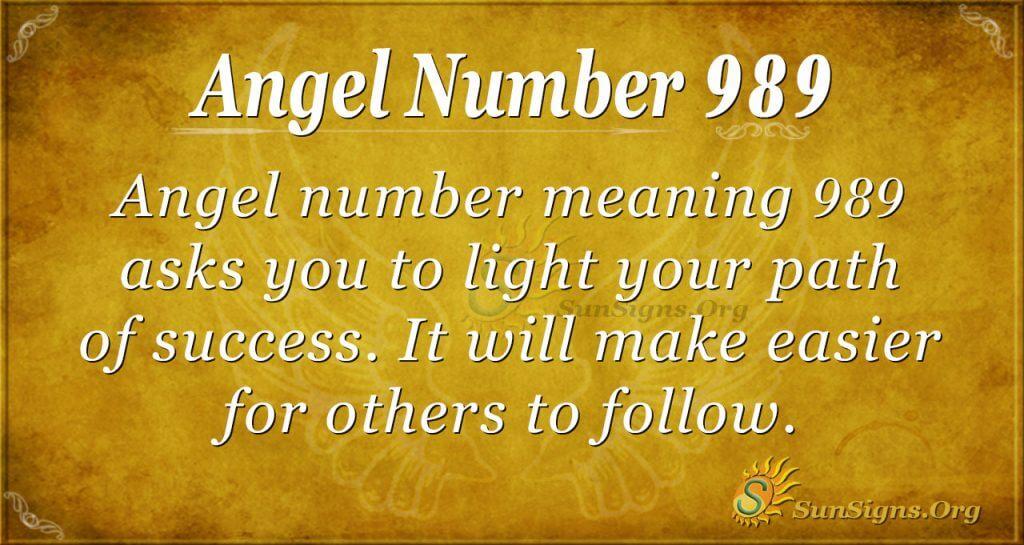 angel number 989