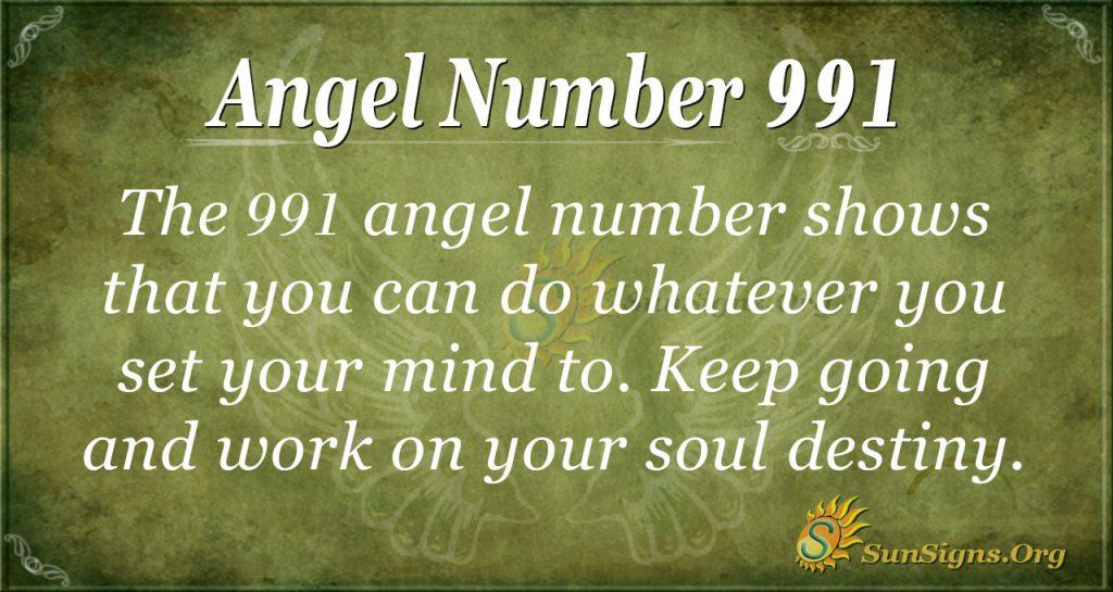 angel number 991