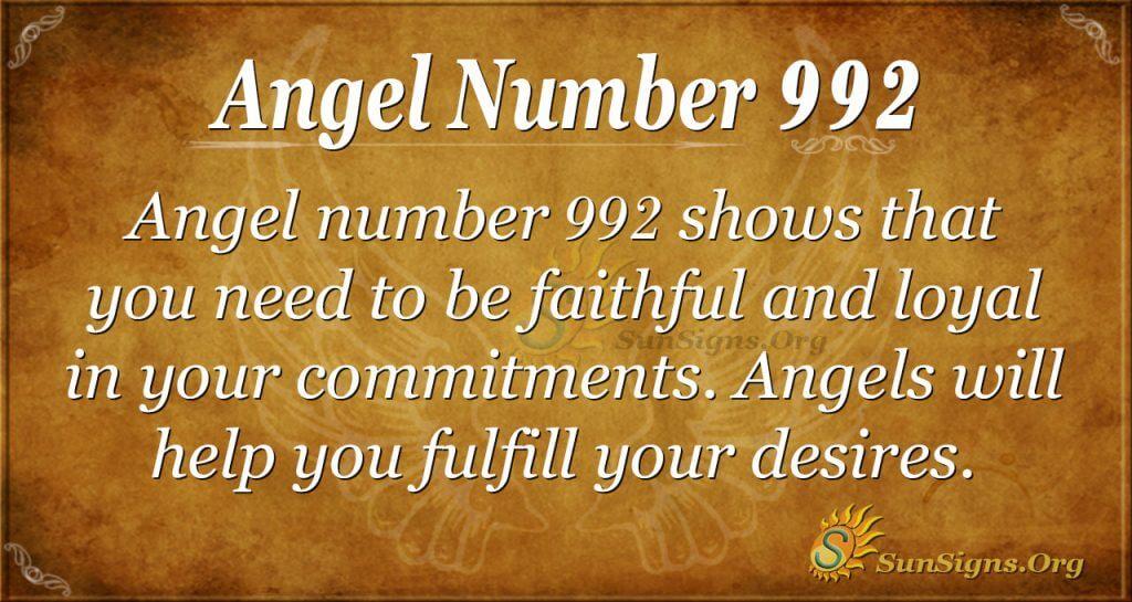 angel number 992