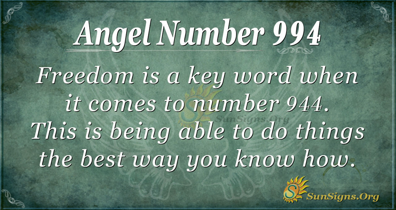 Angel Number 994 Meaning
