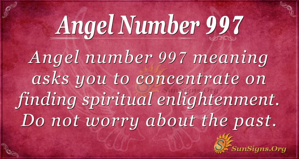 angel number 997