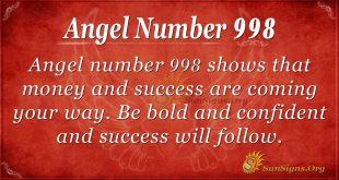 angel number 998