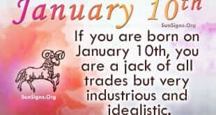 The January 10 Zodiac Sign Compatibility
