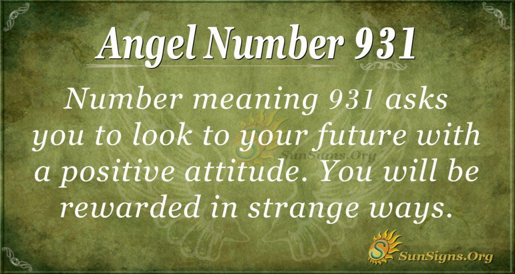 angel number 931