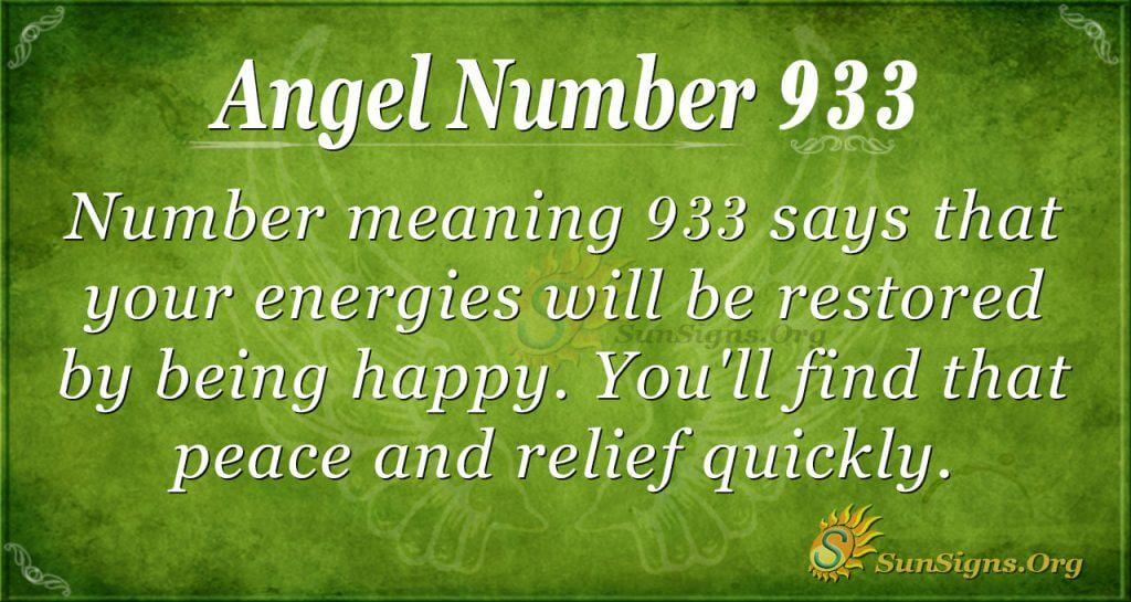 angel number 933