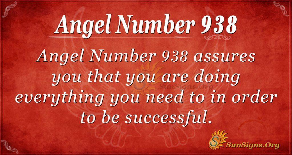 angel number 938