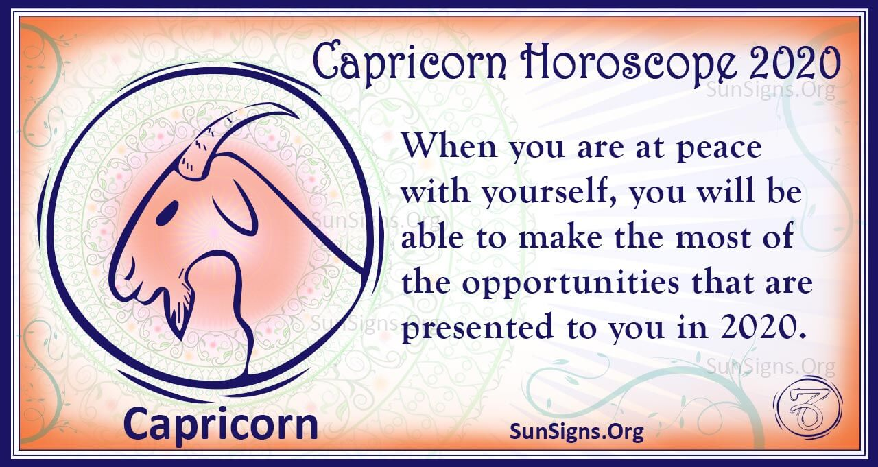 Decan 1 Capricorn 2020 Horoscope