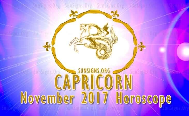 capricorn november 2017 horoscope