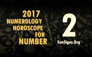 2 numerology horoscope 2017