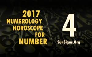 4 numerology horoscope 2017