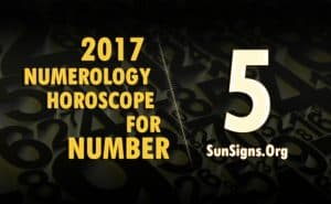 5 numerology horoscope 2017