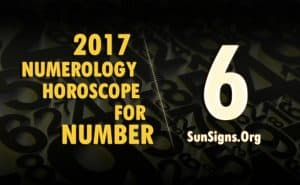 6 numerology horoscope 2017