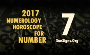 7 numerology horoscope 2017